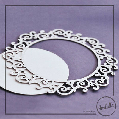 Round Frame Cut-out Chipboard Shape Cardmaking Scrapbooking Craft