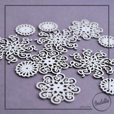 Ornaments Cut-out Chipboard Shapes 11 Elements Cardmaking Scrapbooking Craft