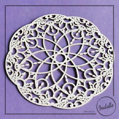 Lacy Ornament Cut-out Chipboard Shape Cardmaking Scrapbooking Craft