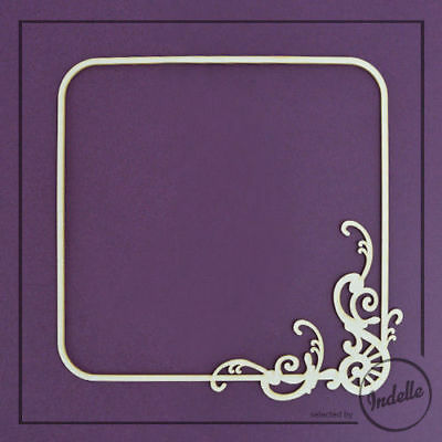 Square Frame Chipboard Shape Cardmaking Scrapbooking Craft