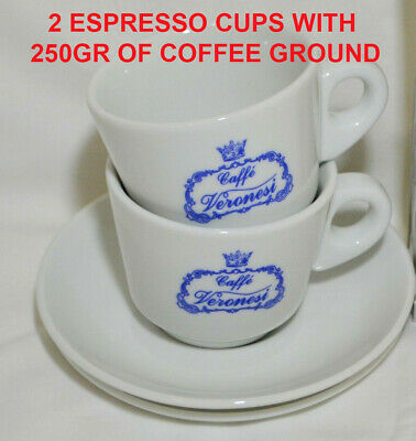 Italian coffee Presiata and 2 Espresso cups/saucers Package Deal 🇮🇹