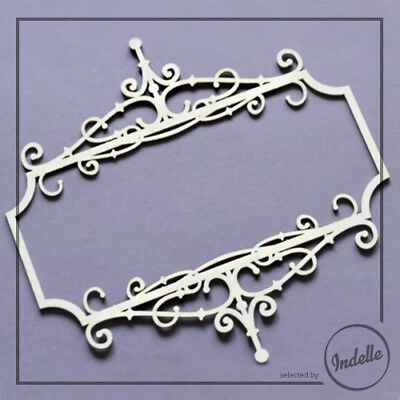 Swirl Frame Cut-out Chipboard Shape Cardmaking Scrapbooking Craft