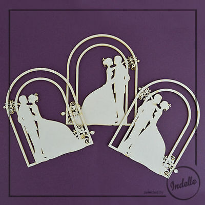 Wedding Couple Chipboard Shapes 3 Pack Cardmaking Scrapbooking Craft