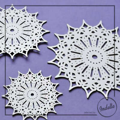 Lace Circle Cut-out Chipboard Shapes 3 Pack Cardmaking Scrapbooking Craft