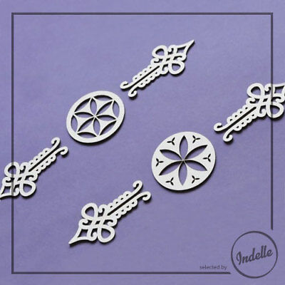 Ornaments Chipboard Shapes 6 Elements Cardmaking Scrapbooking Craft