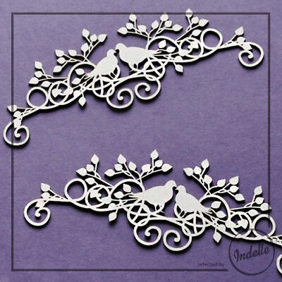 Birds Cut-out Chipboard Shapes 2 Pack Cardmaking Scrapbooking Craft