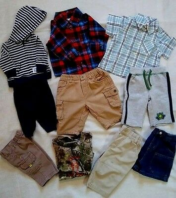 Baby Toddler Boys Mixed Clothing 10 Pieces 0-6 Months Mixed Items & Lots