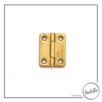 Metal Hinges Brass - 2 Pack Box Hardware Accessories Craft