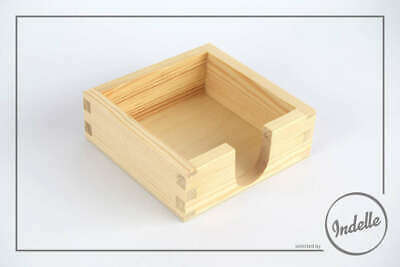 Square Pine Wood Coaster Holder