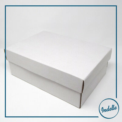 White Cardboard Box 33 x 23 x 12 cm Self-assembly 350gsm - 5 Pack Easter Orna...