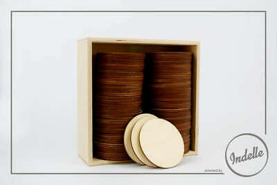 Round Plywood Coasters - 6 Pack
