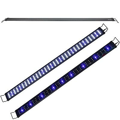 "LED Aquarium Light 48""-60"" Fish Tank Plant Marine FOWLR 0.5W Blue & White"