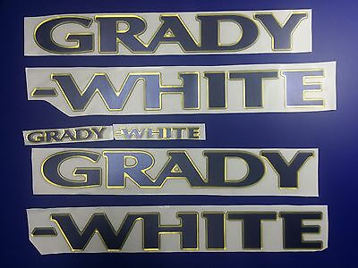 """Grady-White boat Emblem 40"""" gold deep blue + FREE FAST delivery DHL express"""