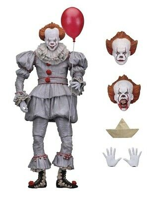 "IT Pennywise Clown 2017 Film Ultimate 7"" Scale Action Figure Toy NECA"