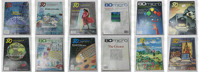 80micro (microcomputing) Magazines for Tandy TRS-80 (10 Issues + 2 Free Issues)