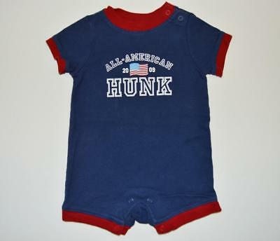 7cadd2732 Baby Boy 0-3 Months Old Navy 1 Piece Romper Outfit Set American Hunk  Patriotic