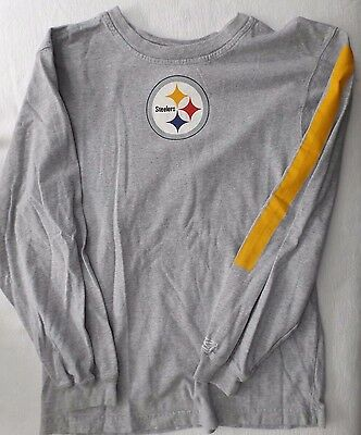 1c78f82ff PITTSBURGH STEELERS NFL Team Apparel Youth Size L 12 -14 Long Sleeve T-shirt
