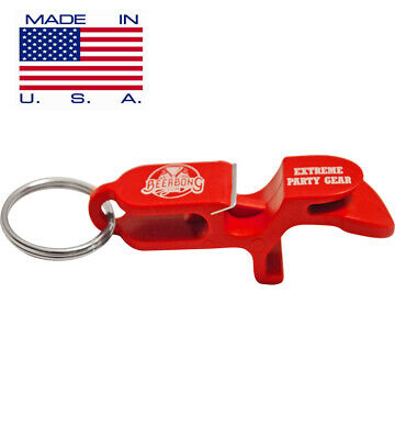 SHOTGUN KEY CHAIN | Beer Bong for Cans | One | Red | MADE IN USA