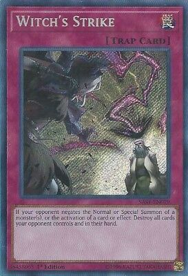 YuGiOh SAST-EN079 - Witch's Strike - Secret Rare - 1st Edition