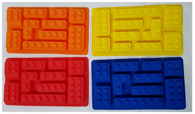 Lego Brick Silicone Chocolate Ice Cake Mold Mould Party Novelty Red Blue Yellow#