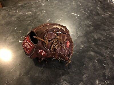 """Rawlings Heart Of The Hide 11.75"""" Two Piece Web Baseball Glove Brown"""