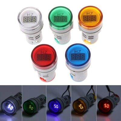22mm Hertz AC Frequency Meter LED Digital Display Indicator Signal Lights Lamp