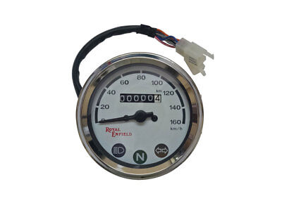 Royal Enfield Classic 0-160 kmph Speedo Meter White Face