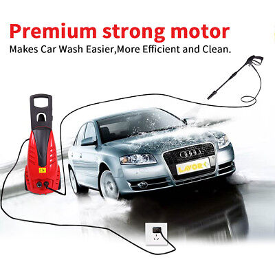 1800W Electric High Pressure Cleaning Machine Portable Car Wash Tool In/Outdoor