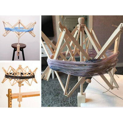 New Stock Umbrella Wooden(Birch) Swift Yarn Winder HOLDER Knitting Ball Tool
