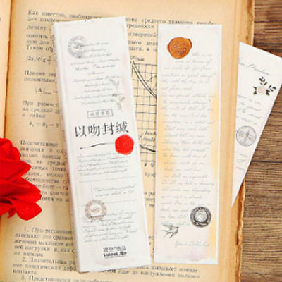 30Pcs/Lot Creative Letters Message Card Boxed Bookmark Staionery Supply Gift New