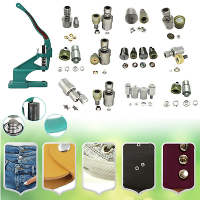 Grommet Eyelets Rivet Studs Poppers Jean Buttons Fixing Dies for Green Machine