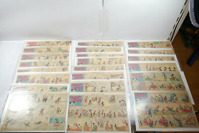 Walt Disney Mickey Mouse Newspaper 22 Comic Strip ´S from 1937 half Sides (WR9A