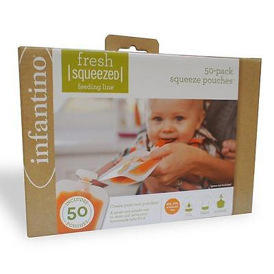 Infantino Fresh Squeezed Squeeze Station 50 Pouch Pack