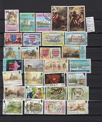 Stamps Lot British Colonies & Territories Jersey Used (L23319)