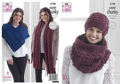 KNITTING PATTERN Baby Very Easy Knit Hat Poncho Bootees Blanket Chunky KC 3392