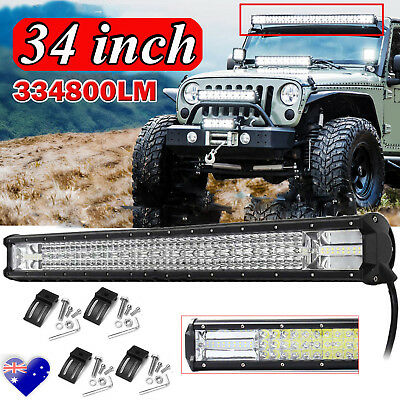 34inch CREE LED Light Bar Spot Flood Driving Lamp Offroad 4WD 4x4 Truck JEEP SUV