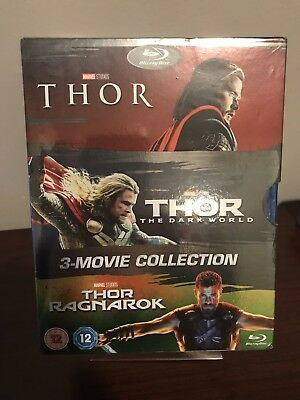 Thor: 3-Movie Collection Lot (Blu-ray, 3-Disc Set, Region Free) Factory Sealed!