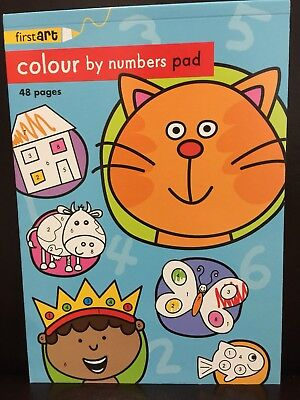 New - Colour By Number Pad - 48 Pages - Great Fun For The Children