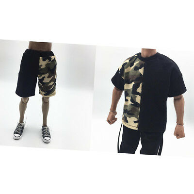 1/6th Short Sleeve T-shirt and Pants for 12inch Hot Toys Kumik Male Body