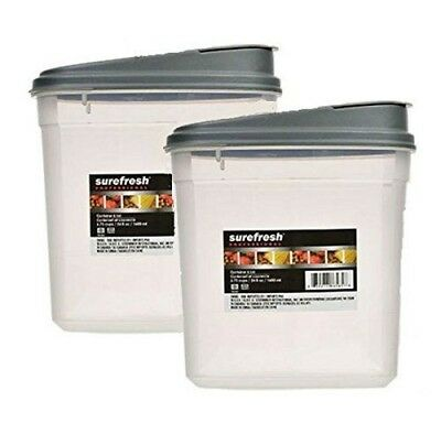 Plastic Food Storage Containers & Lids Set 54oz Dry Food Container Dispenser NEW