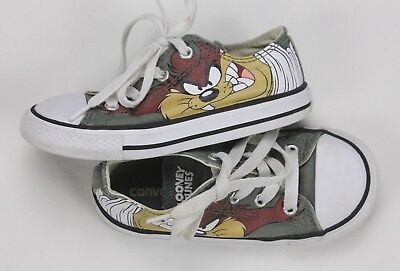 7d2fe32959a9 Converse All Star Chuck Taylor Looney Tunes Taz Youth Kids Sneakers Size 9