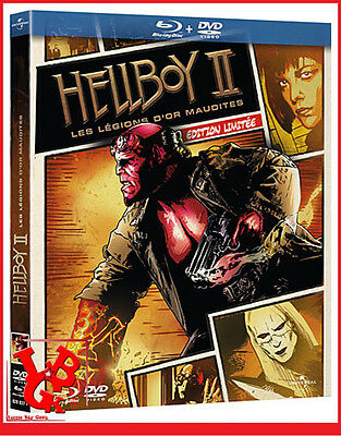 HELLBOY II 2 BLU-RAY Edition limitée dvd Les légions d'or maudites Bluray combo