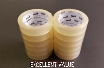 "1"" Sellotape Rolls 25MM Clear Cellotape Packing Tape Rolls EXCELLENT QUALITY"