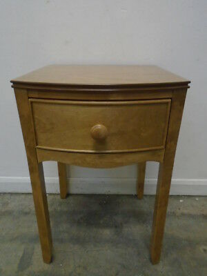 Laura Ashley Broughton 1 Drawer Bedside Table in Honey - QA3101190758
