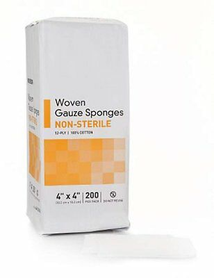 """2000 Pack of Woven Gauze Sponges 4"""" x 4"""". Non-sterile sponges for Wound Care."""