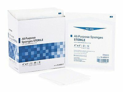 """600 Pack of Non-Woven Gauze Sponges 4"""" x 4"""". Sterile sponges for Wound Care."""