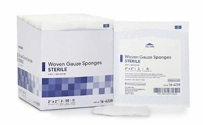 """1500 Pack of Woven Gauze Sponges 2"""" x 2"""". Sterile sponges for Wound Care."""