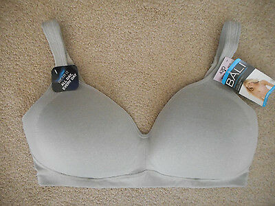 26f8656547 Bali Active Classic Coverage Foam Wirefree Bra 42D Moon Grey Heather 6570  Nwt