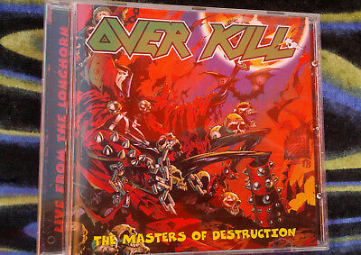 OVERKILL MASTERS OF DESTRUCTION  Live From The Longhorn - CD promo bootleg