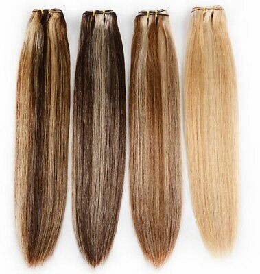 45.7cm AAAA Remy Indien Classe Extensions de Cheveux Humain Trame / Tissage 120g